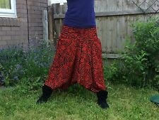 ALI BABA PIXIE PSY TRANCE LEGGINGS,FESTIVAL,GOTH, 10 inch waiste 19 inch expande