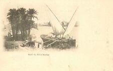 CARTE POSTALE EGYPTE BORD DU NIL A BOULAQ