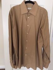 New ERMENEGILDO ZEGNA 100% COTTON SHIRT - Size 44/17 - Nice Light Gold Color