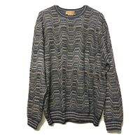 Tricots St. Raphael Knit Pullover Sweater Long Sleeves Size XL Geometric