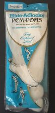 New Vintage Hide a Sock Pom Poms Terry Cushioned Lined White Tennis Irregulars
