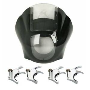 Quarter Headlight Fairing Windshield 49mm Fork Clamp For Harley Sportster Dyna