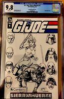 GI Joe Sierra Muerte #1 CGC 9.8 ComicsPRO Mychaels B&W Sketch Variant IDW 2019