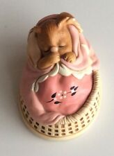 Pendelfin Bunny Pink Poppet Figurine - Stonecraft - Vintage Made In England