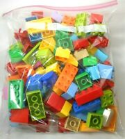 Lego Duplo Bricks Lot of 100 Various Colors 1x2 to 2x4 (app. 2 pounds ship wt.)