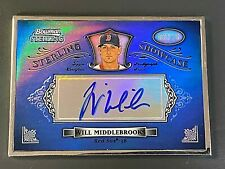 2012 Bowman Sterling WILL MIDDLEBROOKS Sterling Showcase On-Card RC Auto #06/25