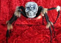 Large Halloween Skull Spider Flashing Light Eyes Party Decor Props 90CM