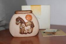 THUN CLUB 2008. Vaso con cavalli e Ruota di fuoco.Dimensioni 15,5x12,5 cm.