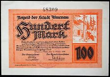 "ILMENAU 1922 ""Goethe In Front of Cabin"" 100 Mark early Inflation Notgeld Germany"