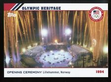 2014 Topps US Winter Olympics Opening Ceremony ~ Lillehammer, Norway 1994