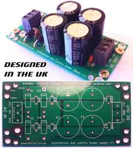 Dual Polarity Symmetrical Power Supply For Audio Amp FULLY ASSEMBLED