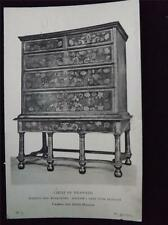 OLD POSTCARD OF CHEST OF DRAWERS VICTORIA AND ALBERT MUSEUM LONDON UNUSED