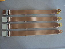 Buick Chevrolet GM Pontiac Oldsmobile Car Truck Rat Hot Rod TAN Seat Belts USA