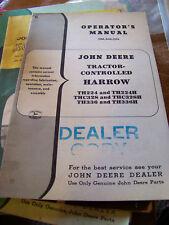 Vtg John Deere Tractor Control Harrow Operator Manual