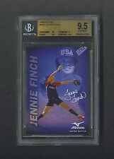 Jennie Finch 2008 Mizuno advertising card Beckett 9.5