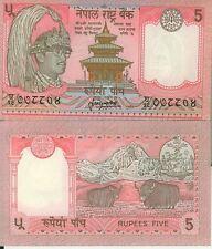 NEPAL billet neuf de 5 RUPEES Pick46  1974 temple  yack et Himalaya