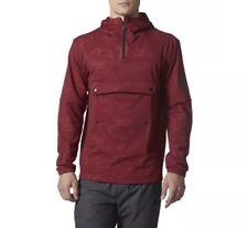 NEW! Adidas Warp Mesh Anorak Pullover Hoodie Jacket Sz XL CD4541 Burgundy $130
