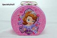DISNEY SOFIA THE FIRST SEMI-ROUND SHAPED TIN BOX HANDLE PURSE