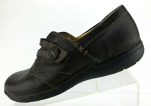 Clarks Artisan Un.Esma Loafers Brown Leather Casual Dress Shoes Womens Size 9 M