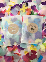 Glassine Bags/ Packets & Throw Me Stickers with Rainbow Biodegradable Confetti