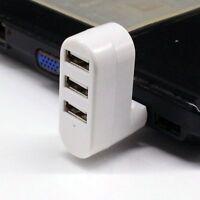 Hub Splitter 3 Ports Hub 2.0 USB Adapter Rotating Splitter 3-port USB Extender