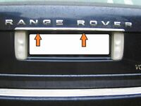 Rover L322 Vague 02-13 chrom Kofferraum Leiste Heckleiste Zierleiste Edelstahl