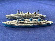 Lot of 2 Vintage Tootsietoy Transport Diecast Ships