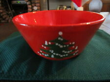 "Vintage Waechtersbach Germany Red Christmas Tree Bowl 9"" nice gift"