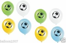 "8 FOOTBALL THEME Boys Birthday Party Decorations 12"" Latex BALLOONS"