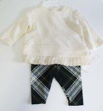 4590b1305 Ralph Lauren Baby Girls Fleece Top & Legging Set Olympia Cream Sz ...