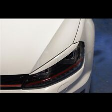 Headlight Eye Line Garnish Pure White For Volkswagen VW Golf 7 MK7 VII 2013~2015