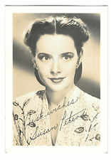 "Susan Peters 3 1/2 x 5"" Photograph, Facsimile Signature, Circa 1940's Film Star"