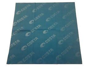 "Costa Del Mar Micro Fiber Sunglass Eyeglass Lens Cleaning Cloth Embossed Logo 7"""