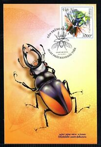 N.1060-Vietnam- Postcard- Beetle - Golden splint pliers -2015-2015
