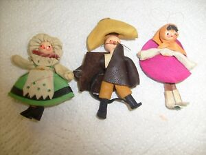 Cowboy Hat, Western, Rodeo Leather Christmas Ornament Xmas Family 3 lot / x1