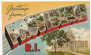 RHODE ISLAND 747-Greetings from PROVIDENCE