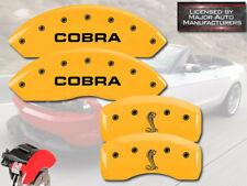 2007-2008 Ford Mustang Shelby GT Front Rear Yellow MGP Brake Caliper Cover Cobra