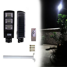 90WSolar Street Light LED Outdoor Pathway Parking Lot Backyard Bright Light+Pole
