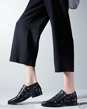 "£595 Jimmy Choo ""MAIDA"" Black  Brogues Star Studs Shoes 35.5 uk3"