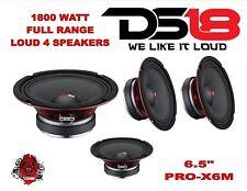 """(4) DS18 PRO-X6M 1800W 6.5"""" Midrange Full Range Super Speaker Loudspeaker 8 Ohm"""