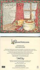 Vintage Fairy Angels Garden Green Frogs Print 1 Williamsburg Chili Recipe Card