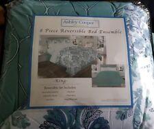 Ashley Cooper Reversible 8 Piece Bedding Ensembles King Size Bed Set New!