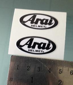VISOR Stickers / Decals For ARAI Helmets (PAIR) (4CM x 2CM)