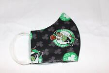 BOSTON CELTICS  FACE MASK  2 LAYER OF SOLID COLOR FABRIC