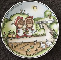 Vintage Joan Walsh Anglund 1966 Month Plate June Walter W. Germany