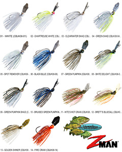 Z-MAN Chatterbait Jack Hammer Bladed Vibrating Jig 3/8oz (CBJH38) Any 14 Colors