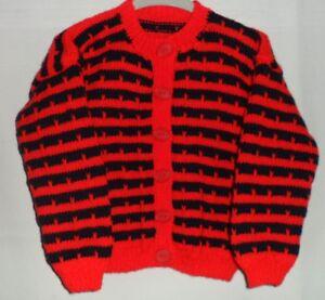 Girls Hand Knitted Cardigan
