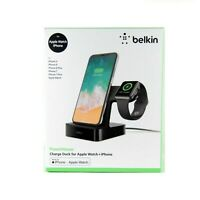 BELKIN CHARGE DOCK POWERHOUSE FOR APPLE WATCH IPHONE XS MAX XR X 8 7 F8J237AUBLK