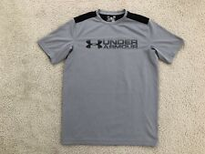 Under Armour Heat Gear Ss Fitted T-Shirt, Gray, Mens M