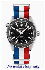 20MM ULTIMATE BOND red/white/blue NATO STRAP & CLASP for 42mm OMEGA OCEAN 600